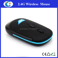 2.4g optical super flat wireless mouse with OEM logo