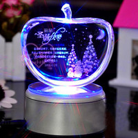 light base crystal led glass 3d laser gift items for woman birthday