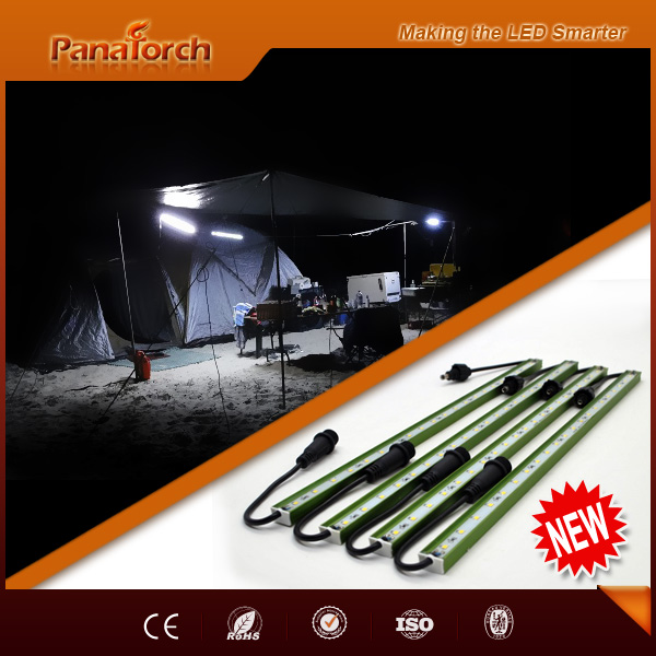 US market three-way splitters Led 12V camping light working with solar panel for 4x4 car tents