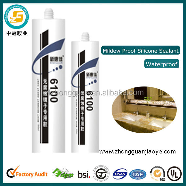 Non-toxic Silicone Sealant Waterproof Contact Adhesive for Glass