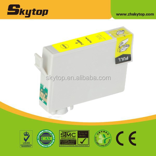 T0714/894 Yellow with chip inkjet for Epson Stylus D78/D92/D120/DX4000/DX4050/DX4400/DX4450/DX5000/DX5050
