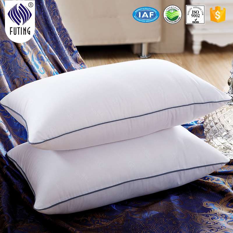 Premium 100% Cotton Shell Hotel Collection Luxury White Down Feather Pillow