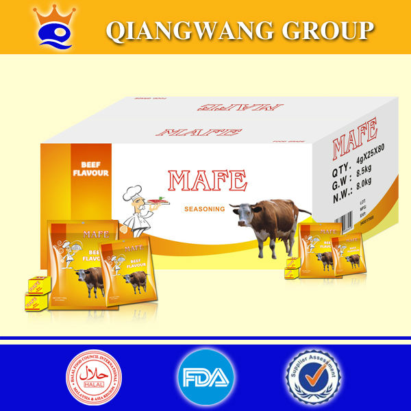 Halal beef bouillon seasoning cube for simmer beef