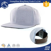 High quality white plain cotton snapback caps wholesale in guangzhou