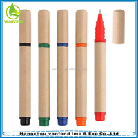 Custom advertising stationery eco paper made pen for office & school
