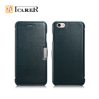 fashion design genuine leather flip case for iPhone6 case