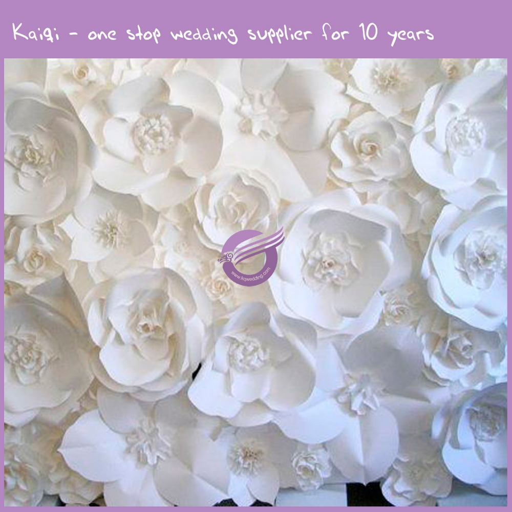 k7146 white paper big rose wedding event decoration bulk custom artificial flower