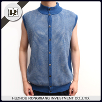 Wholesale newly design fashion Man's round neck jacquard knnited vest