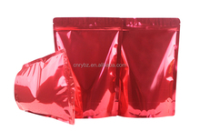 custom printed foil laminated mylar ziplock bags shiny high quality standing up bag