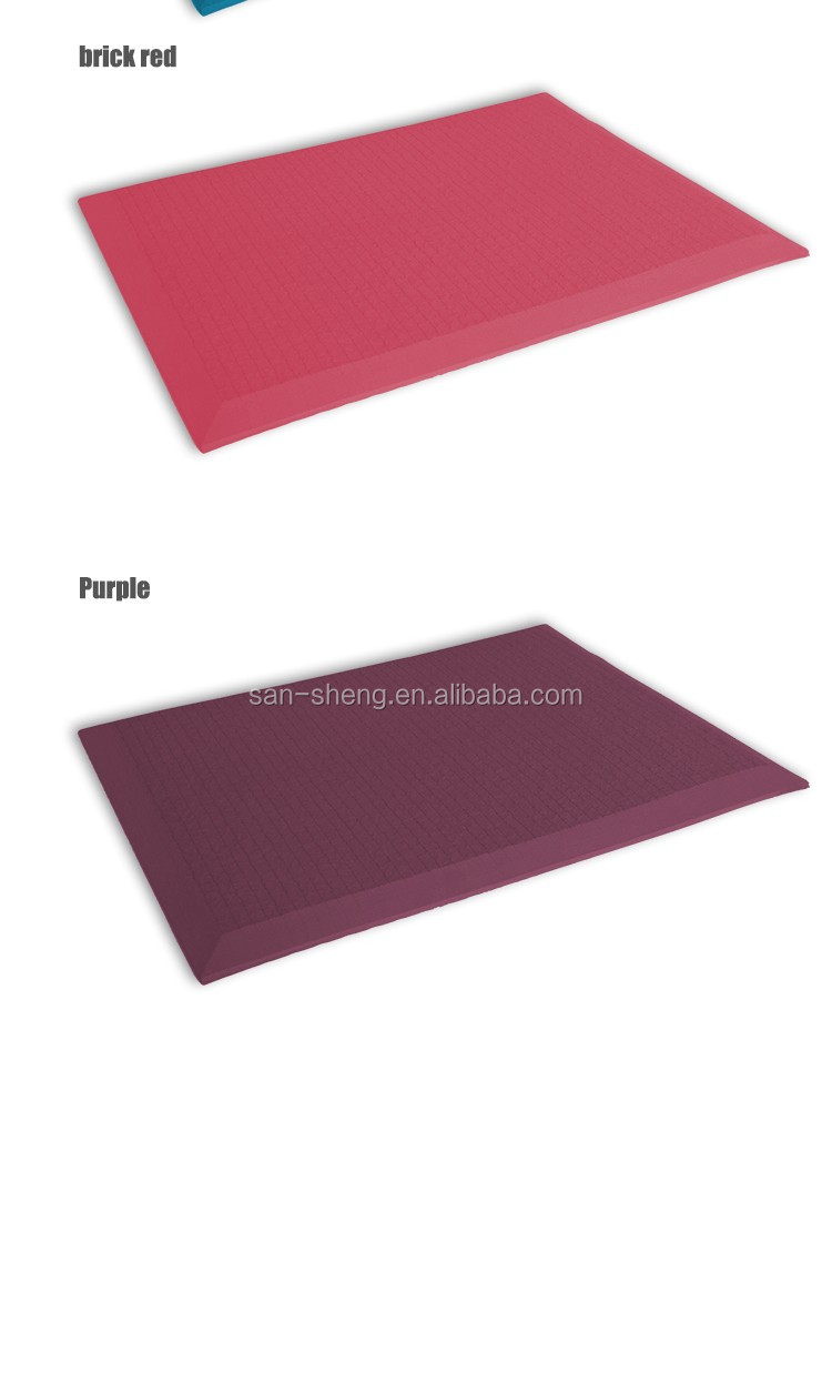 Customized size rectangle anti fatigue mat