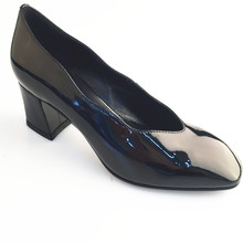 Patent Leather Lady Dress Shoes Bright Color Genuine Leather Women Shoe