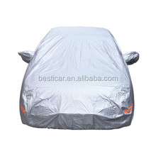 Folding Silver Polyester Sun Car Cover