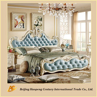 Euro style wooden king bed designs