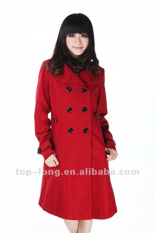 2012 women russian winter coat of melton clothing fashion textile stock