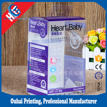 2017 Clear plastic box baby feeding bottle packaging pvc display box in high quality