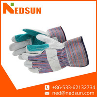 High quality reinforce cow split leather gloves importers