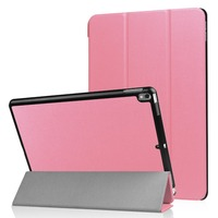 Three-Folded Solid Color PU Leather Flip Cover Case for iPad Pro 10.5 Wholesale Price