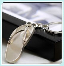 Stainless steel metal shoe key chain