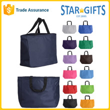 Heavy Duty Custom 600D Polyester Bags Carry Tote With Sublimation Logo Printing