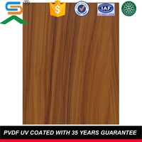 waterproof wooden grain decorative interior wall cladding