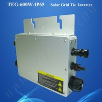 Easy installation MPPT 24v 48v grid tie micro control power inverter 600w, micro inverter for solar panel