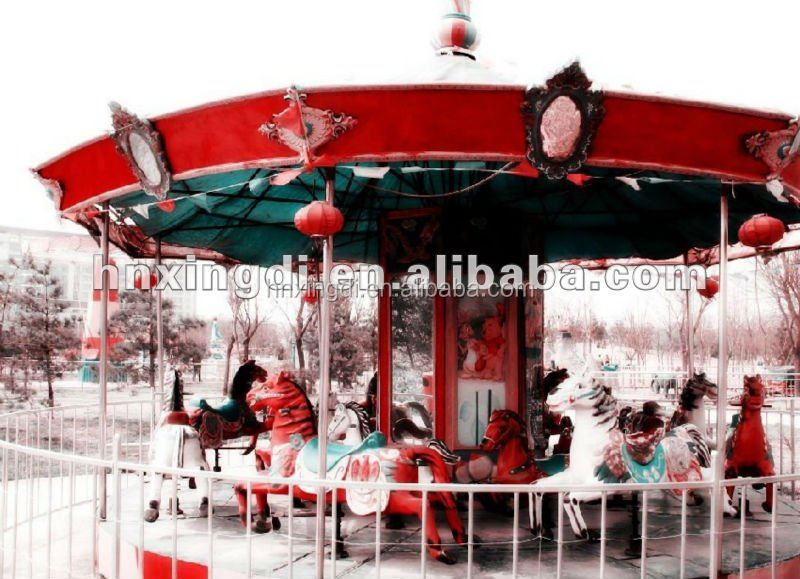 children's playground luxury carousel amusement park equipment