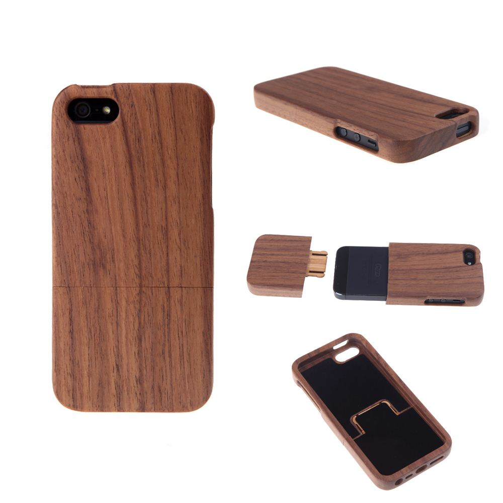 Light weight Walnut Wood Phone Case for iPhone 5 Case for iPhone5s Cases Environmental Natural Hard Back Cover Protective Shell