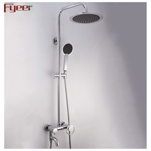 Fyeer Hot Sale Factory Price Wall Mounted Exposed Bath Rain Shower Set
