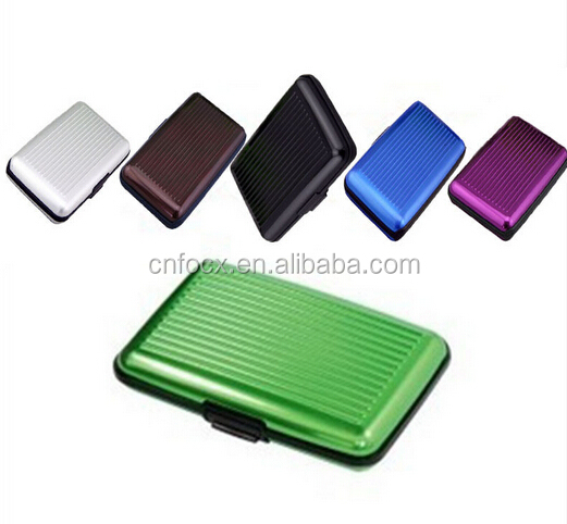 Pocket ID Credit Cards Wallet Holder / Aluminum Metal card case / waterproof pocket metal business card holder