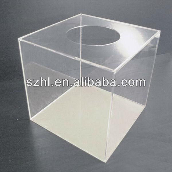 Clear acrylic lucky draw cube box for ticket