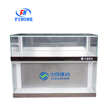 New design glass cabinet display cell phone display counter mobile display case