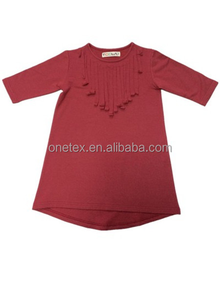 New Style Kid's High Quality Tassels Short Sleeve Long Sleeve T-shirt