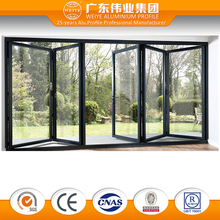 Tempered Glass aluminium simple indian folding door designs standard size