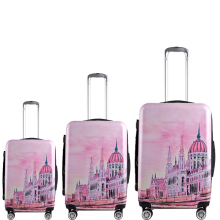 cheap fashional colourful travel trolley luggage bag