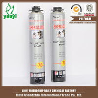 Large expansion heat-resistant filling-gaps water-proof PU FOAM