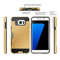 C&T Dual Layer Armor Full Body Protective Hybrid Wallet Card Slots Case for Samsung Galaxy S7