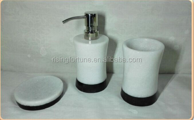 Natural stone soap dispenser