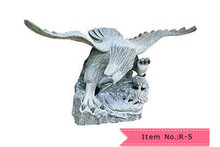 R-5 abstract handcarving eagle stone sculpture
