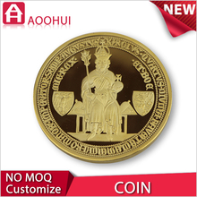 Hot die casting sport medallion price old gold coin