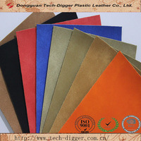 Double Color Change Synthetic PU Nubuck Leather for Shoes Bags