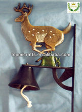 deer cast iron door bell