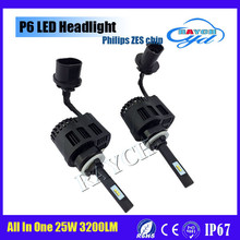 LED P6 headlights 12v 24v 9005 bulb type h7 h8 h9 h15 h4 880 881 9006