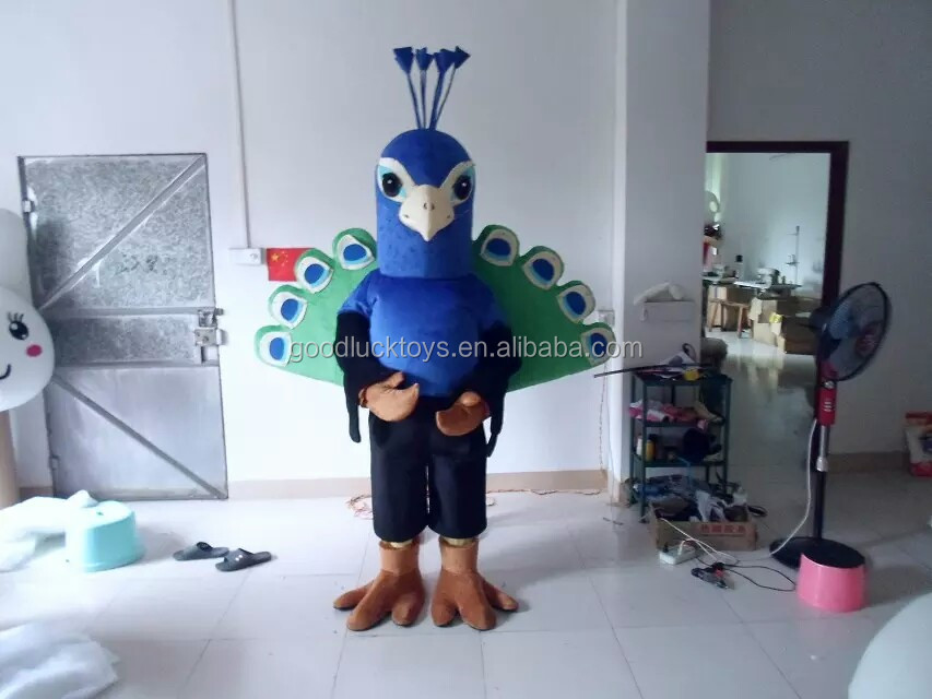 2016 peacock mascot costume for adult peacock costume