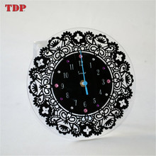 Factory Directly Black Decorative Wall Mounted Acrylic Clocks for Home and Office