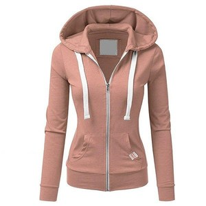 Wholesale Cheap Zipper Blank Hoodies Women
