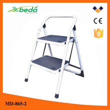 portable domestic 2 step folding steel loft access ladders (MD-865-2)