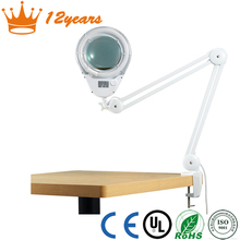 Normal type 8066d2-4c magnifying lamp,magnifying glass light for nail art table bracket