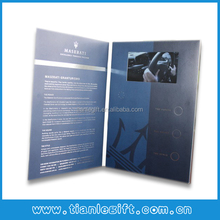 "2014 4.3"" lcd video photo brochure, video picture cards, video poto book"