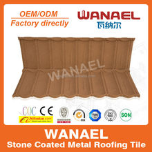 Fire-resistant 50 years life span stone coated steel roof system/ asphalt shingle roof coating