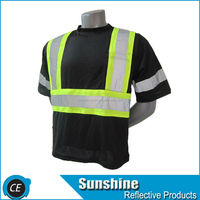 EN471 wholesale black reflective safety vest